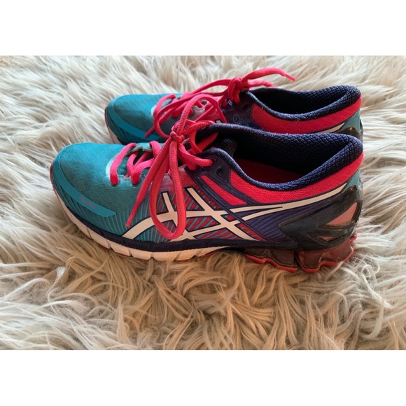 Asics Shoes - Asics Pink and Blue Sneakers